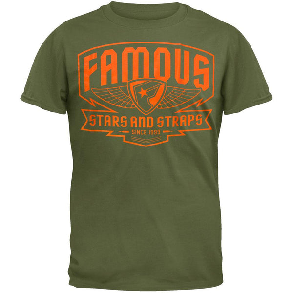 Famous Stars & Straps - Brigade Patch Green T-Shirt