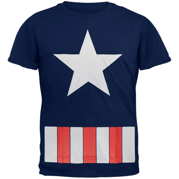 Captain America - Great Star Costume Youth T-Shirt