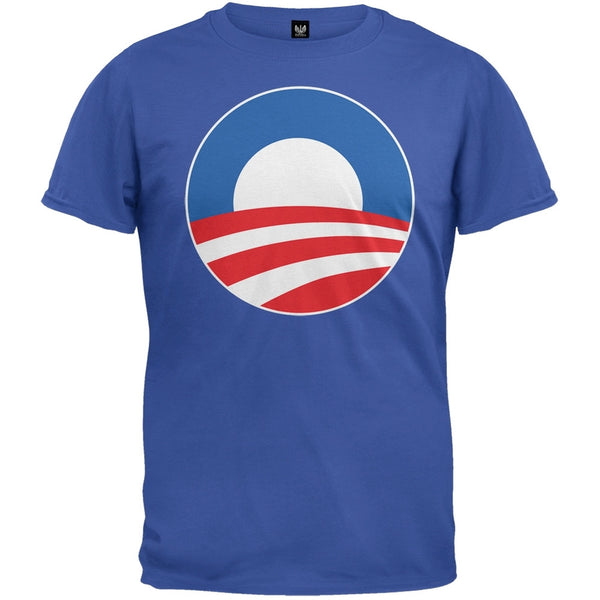 Obama - Large Rising Sun Logo Royal T-Shirt
