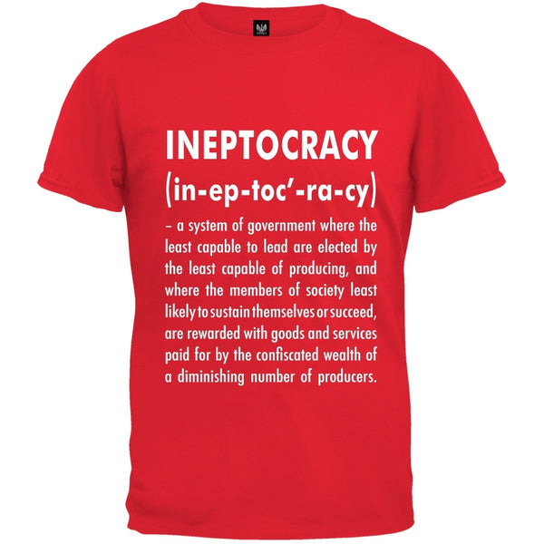 Ineptocracy Definition Black T-Shirt