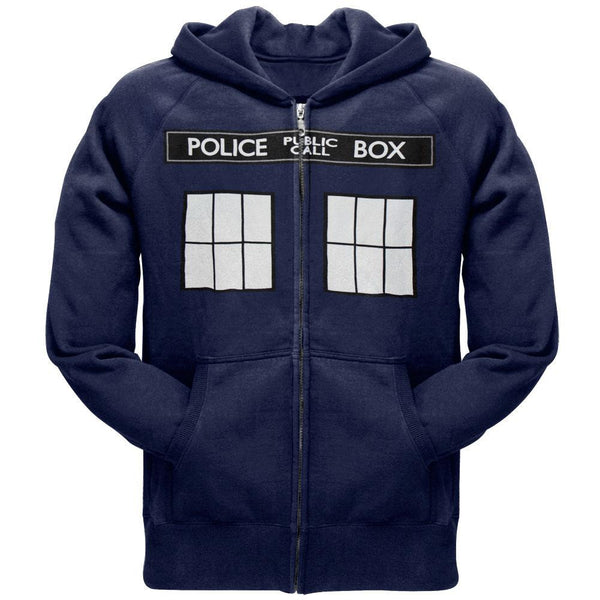Doctor Who - Large TARDIS Zip Hoodie