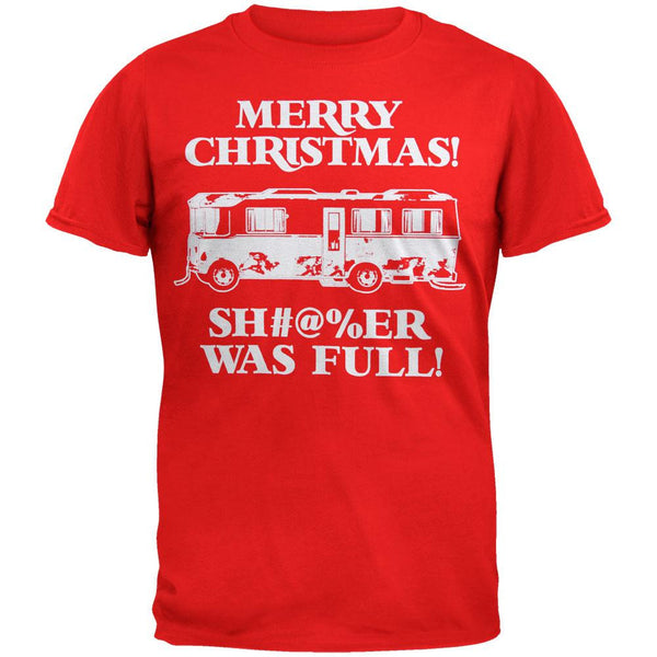 Christmas Vacation - Shitter Was Full Red Adult T-Shirt