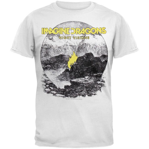 Imagine Dragons - Flame White T-Shirt