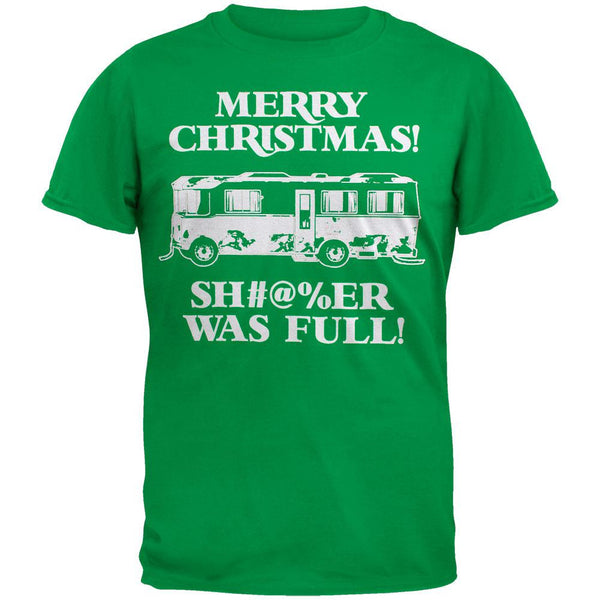 Christmas Vacation - Shitter Was Full Green Adult T-Shirt