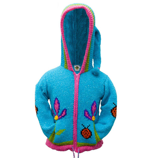 Lady Bug Girls Hooded Sweater