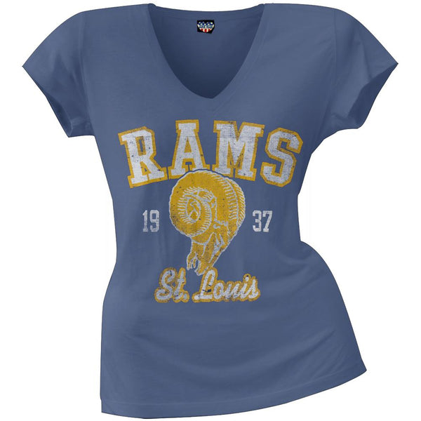 St. Louis Rams - Flanker Logo Premium Juniors V-Neck T-Shirt