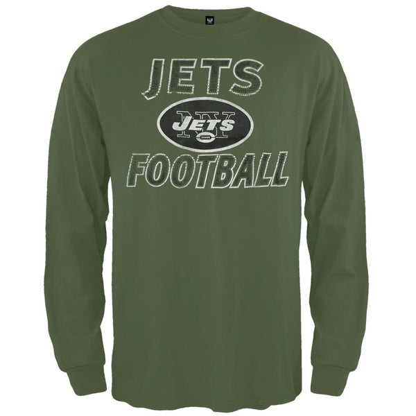 New York Jets - Flanker Logo Premium Long Sleeve T-Shirt