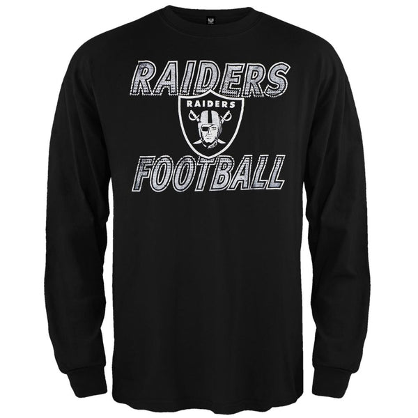 Oakland Raiders - Flanker Logo Premium Long Sleeve T-Shirt