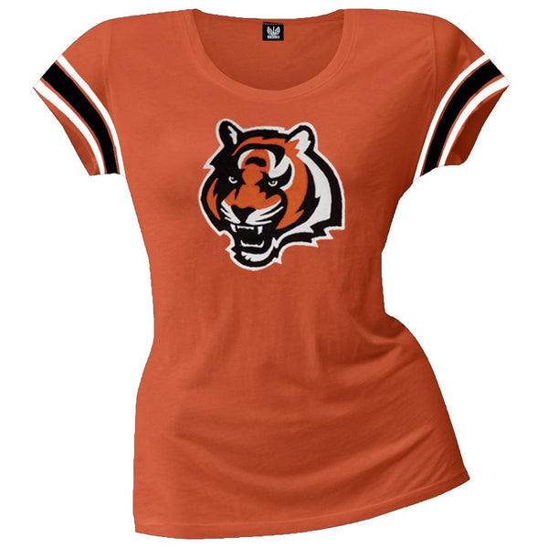 Cincinnati Bengals - Off-Campus Juniors Premium Scoop T-Shirt