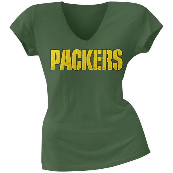 Green Bay Packers - Showtime Premium Juniors V-Neck T-Shirt