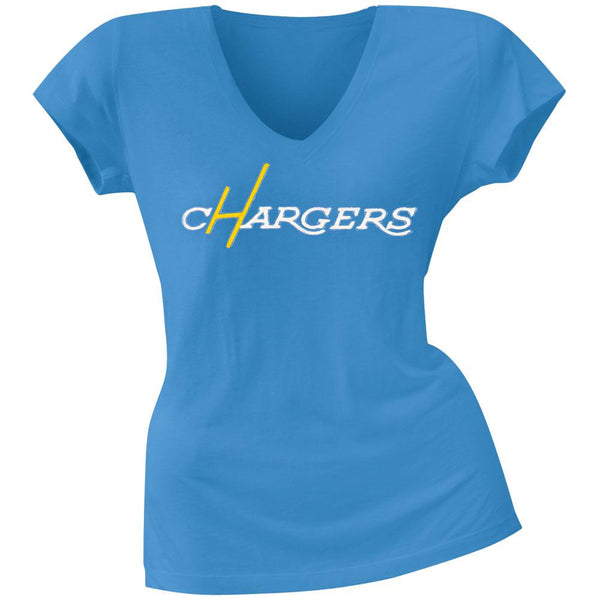 San Diego Chargers - Showtime Premium Juniors V-Neck T-Shirt