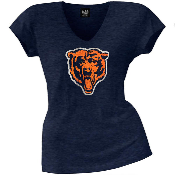 Chicago Bears - Scrum Logo Premium Juniors V-Neck T-Shirt
