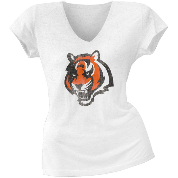 Cincinnati Bengals - Scrum Logo Premium Juniors V-Neck T-Shirt