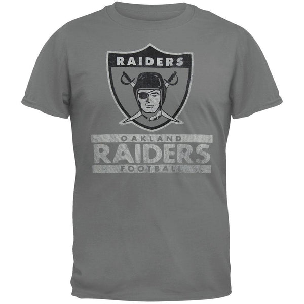 Oakland Raiders - Flanker Grey Premium Adult T-Shirt