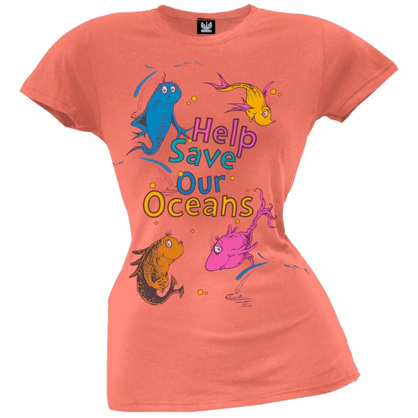 Dr. Seuss - Save Our Oceans Juniors T-Shirt