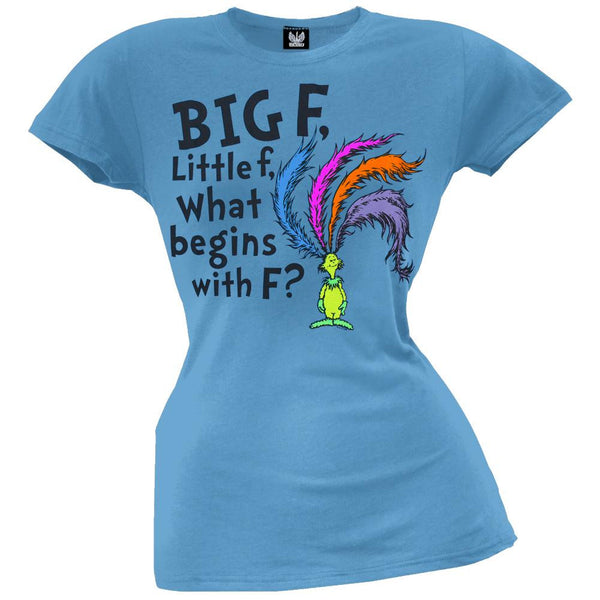 Dr. Seuss - What Begins With F? Juniors T-Shirt