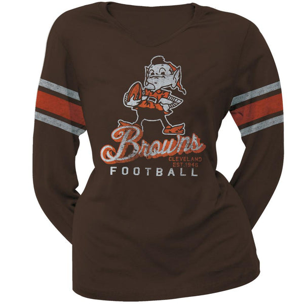 Cleveland Browns - Homerun Premium Juniors Long Sleeve T-Shirt