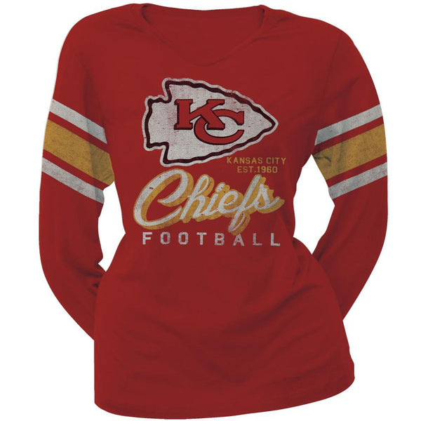Kansas City Chiefs - Homerun Premium Juniors Long Sleeve T-Shirt