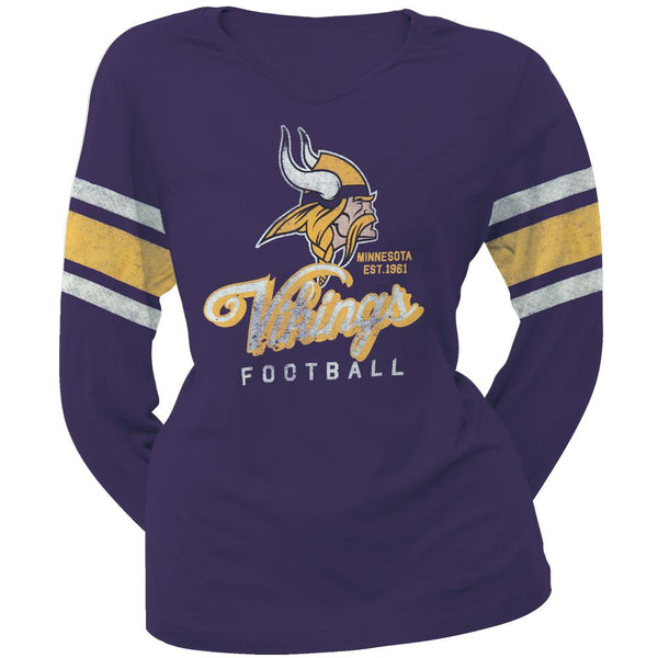 Minnesota Vikings - Homerun Premium Juniors Long Sleeve T-Shirt