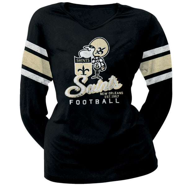New Orleans Saints - Homerun Premium Juniors Long Sleeve T-Shirt