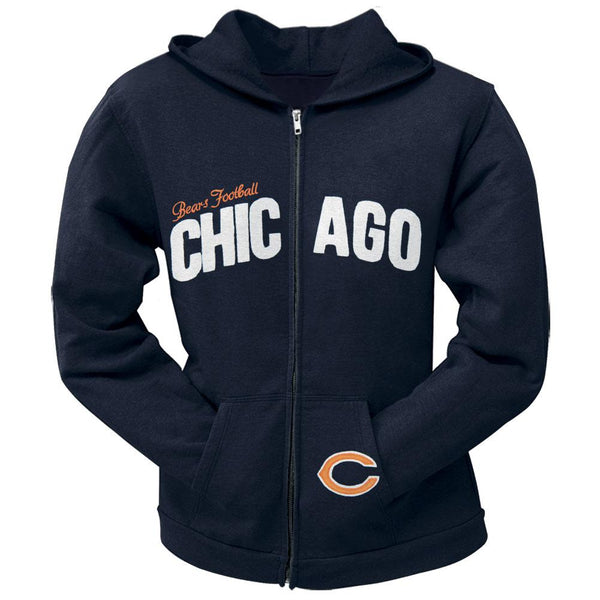 Chicago Bears - Pep Rally Premium Juniors Full Zip Hoodie