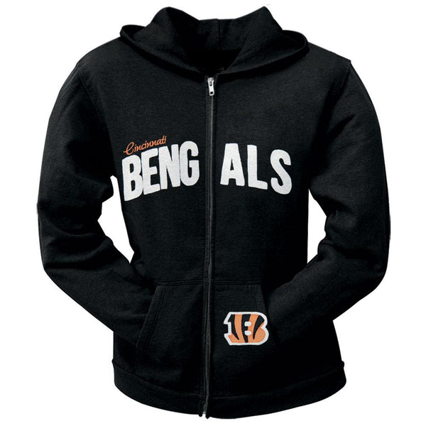 Cincinnati Bengals - Pep Rally Premium Juniors Full Zip Hoodie