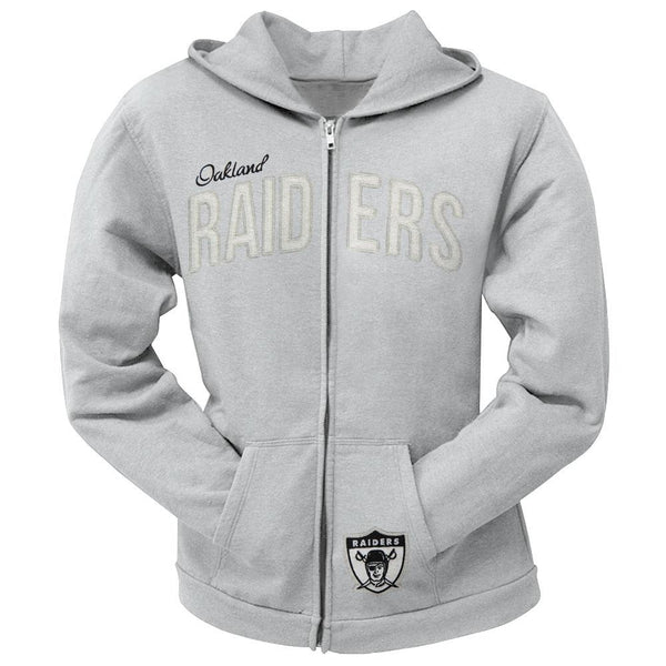 Oakland Raiders - Pep Rally Premium Juniors Full Zip Hoodie