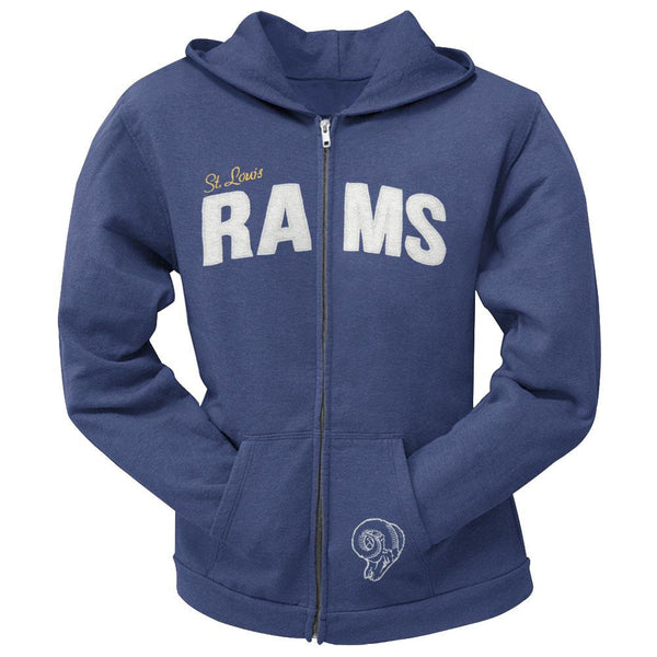 St. Louis Rams - Pep Rally Premium Juniors Full Zip Hoodie