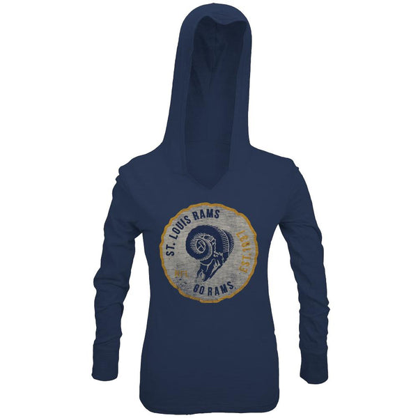 St. Louis Rams - Primetime Juniors Hooded Long Sleeve T-Shirt