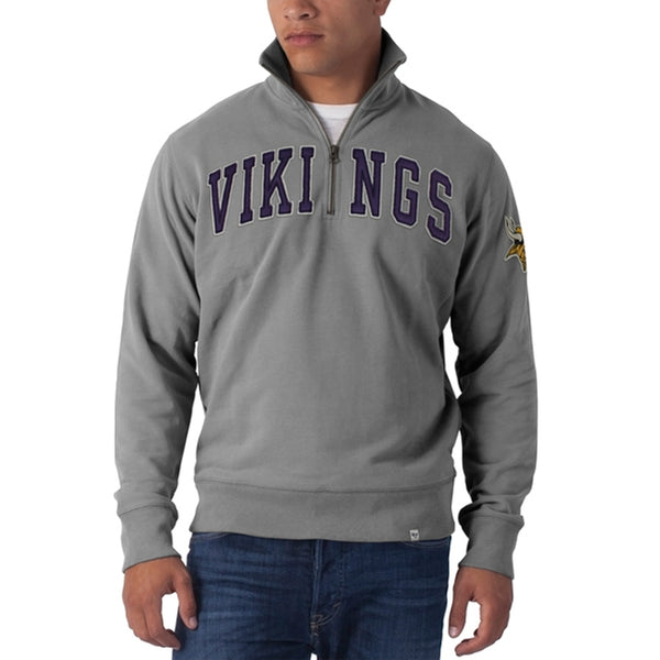 Minnesota Vikings - Striker 1/4 Zip Premium Sweatshirt