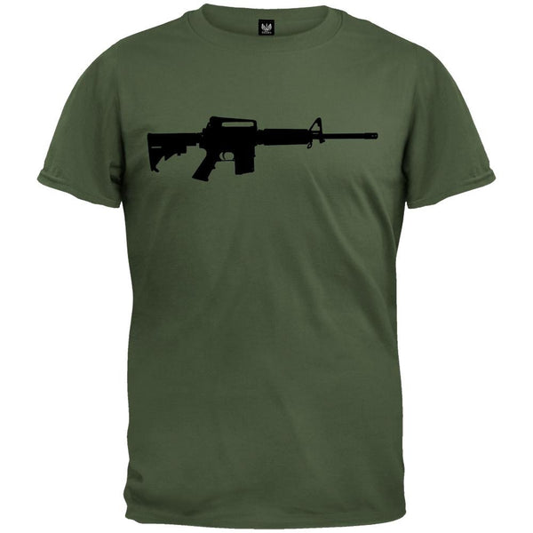 Rifles - AR-15 Silhouette Military Green T-Shirt