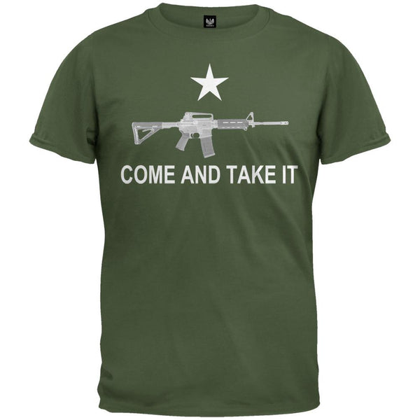 AR-15 Come And Take It Black T-Shirt