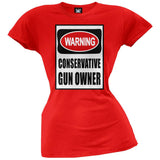 Conservative Gun Owner Sign Red Juniors T-Shirt