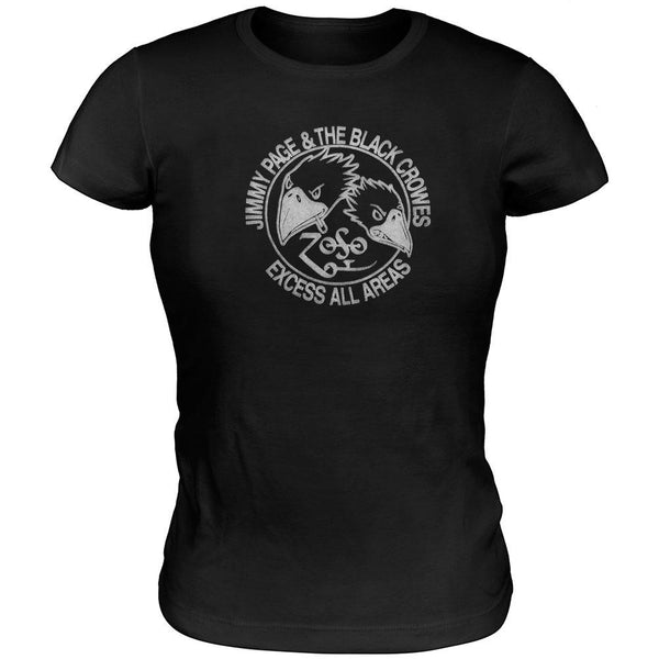 Jimmy Page And The Black Crowes - Juniors Babydoll T-Shirt