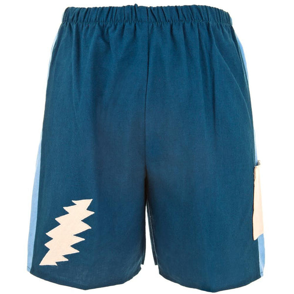 Grateful Dead - Lightning Bolt Blue Cobalt Infant Shorts