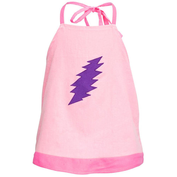 Grateful Dead - Lightning Bolt Pink Juvy Halter Top
