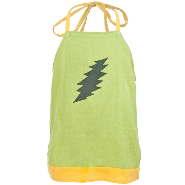Grateful Dead - Lightning Bolt Green Juvy Halter Top