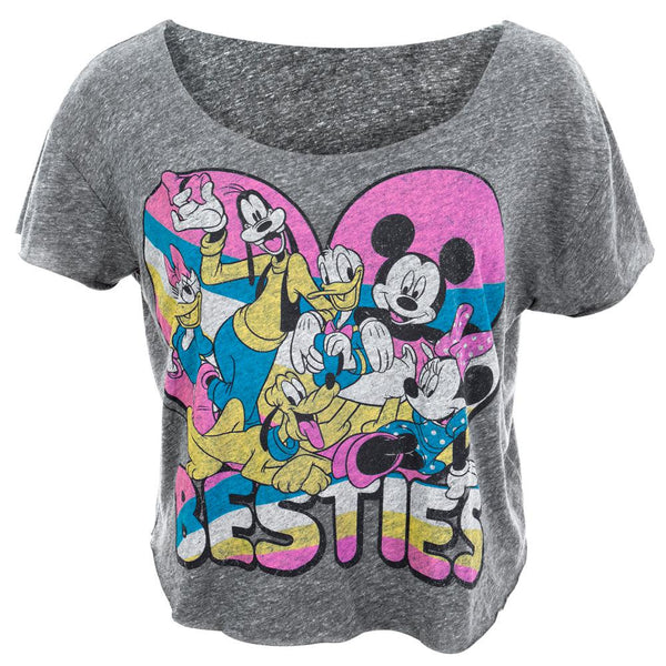 Disney Gang - Besties Juniors Cut-off T-Shirt