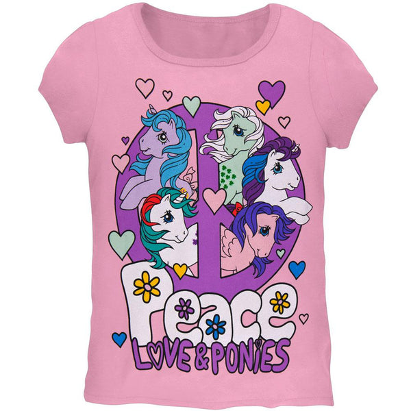 My Little Pony - Peace Love and Ponys Girls Youth T-Shirt