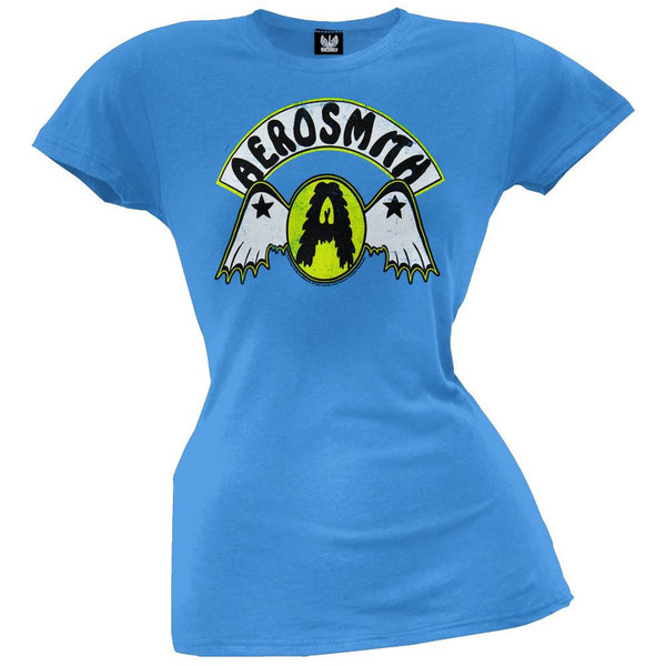 Aerosmith - Circle A With Wings Juniors T-Shirt