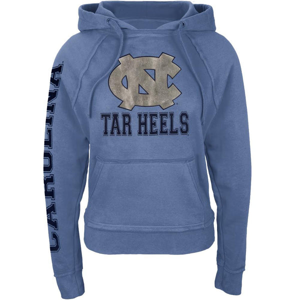 North Carolina Tar Heels - Foil Logo Juniors Pullover Hoodie