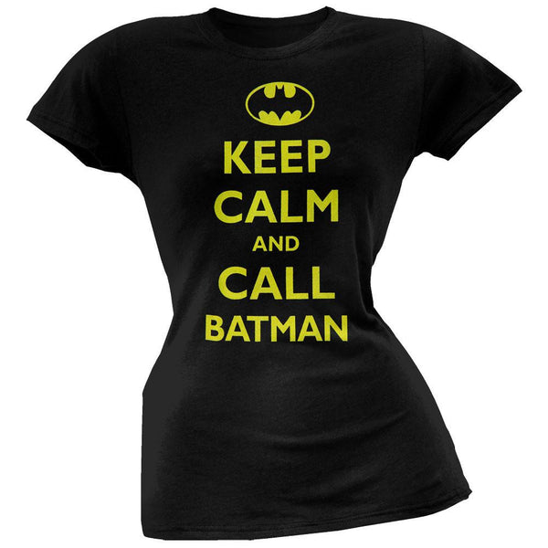 Batman - Keep Calm and Call Juniors T-Shirt