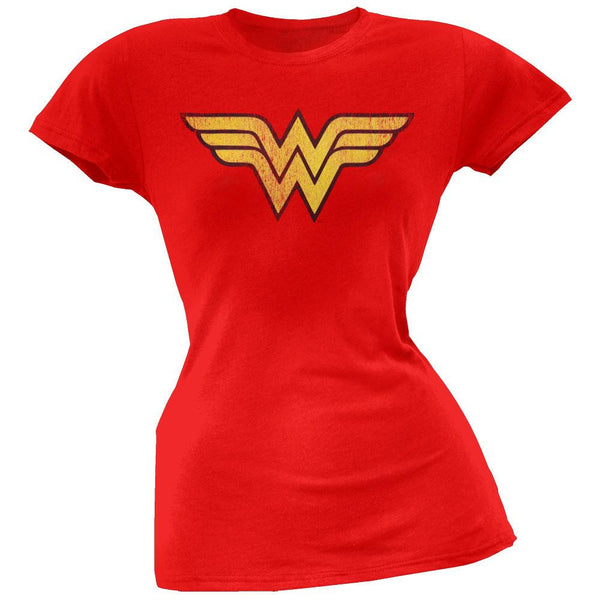 Wonder Woman - Distressed Logo Juniors T-Shirt