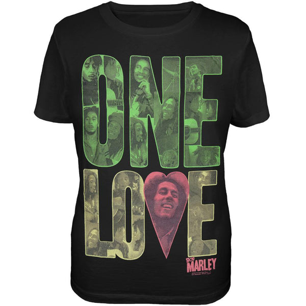 Bob Marley - One Love Block Ladies Plus Size T-Shirt