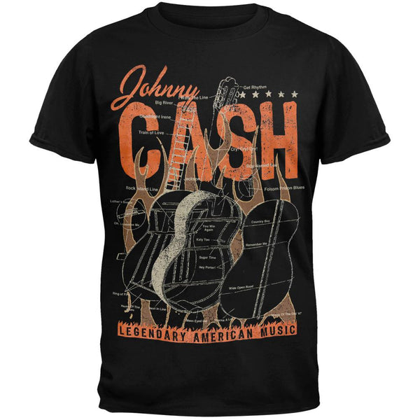 Johnny Cash - Guitar Diagram T-Shirt