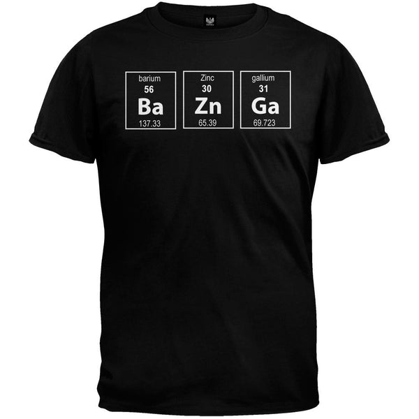 Bazinga Periodic Table Black T-Shirt
