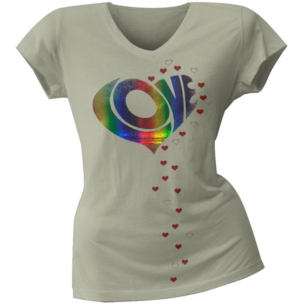 2 Love - Vanessa Hudgens Raining Love Juniors V-Neck T-Shirt