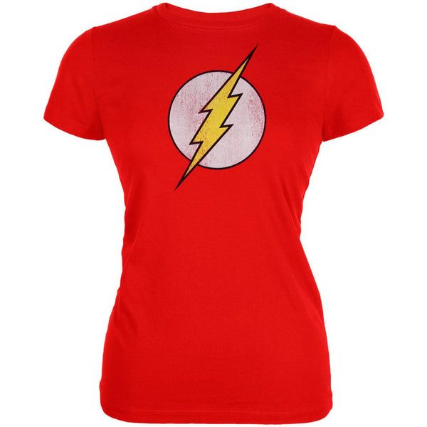 The Flash - Distressed Logo Juniors T-Shirt