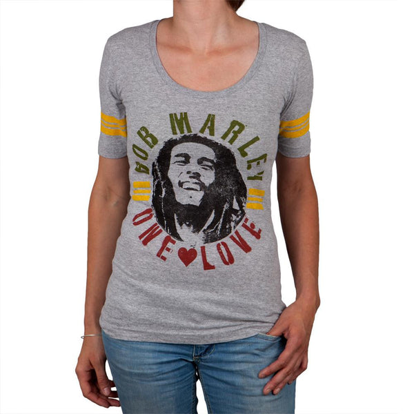 Bob Marley - Circle Love Juniors T-Shirt