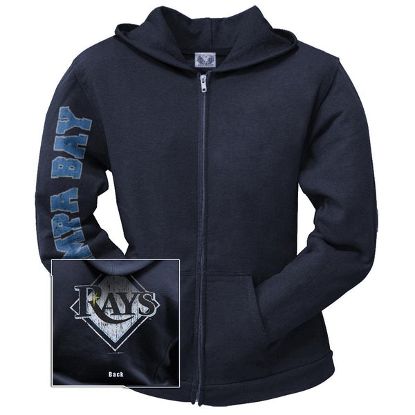 Tampa Bay Rays - Distressed Logo Juniors Zip Hoodie